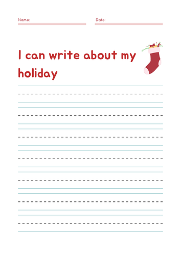 I can write about my holiday