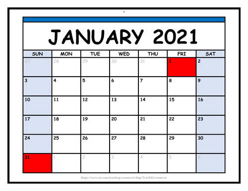 Calendar 2021 & 2022 - Fully Editable