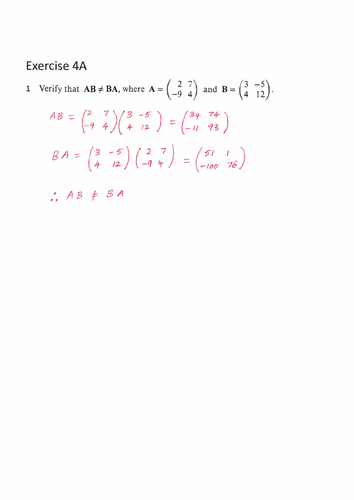 9231_FP1_Chapter 4_Matrices 1_Solutions_COMPLETE PACKAGE