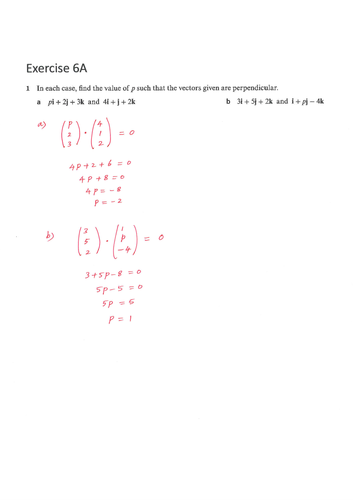 9231_FP1_Chapter 6_Vectors_Solutions_COMPLETE PACKAGE