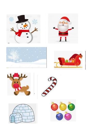 Christmas Initial Sounds Activity  S A B C I
