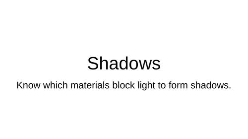 Shadows - opaque, translucent, transparent