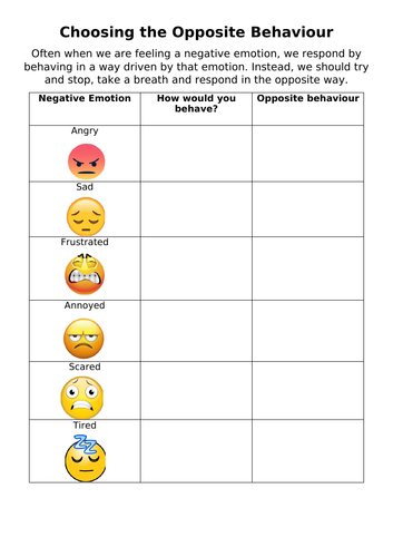 Emotional Resilience Worksheets