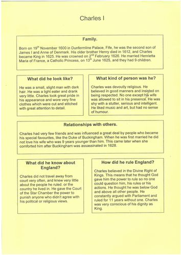 KS3 History Scheme of Work - The Civil War, Cromwell, and Restoration