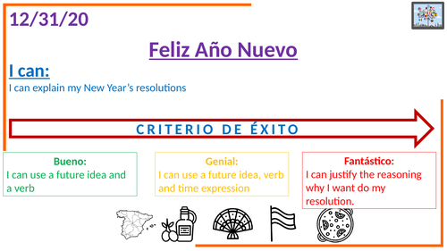 New Year's resolutions - Spanish