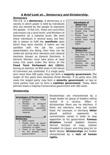 AQA GCSE Citizenship Studies Concept Sheets - Introduction to Key Themes