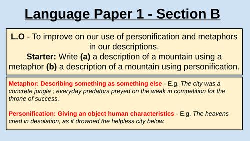 AQA Language Paper One - Section B