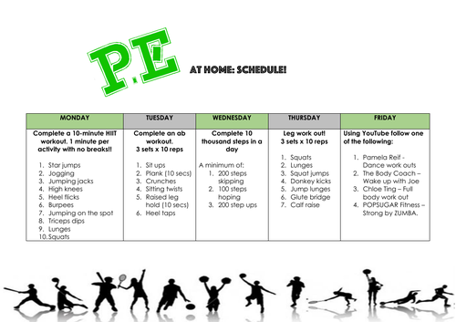PE AT HOME - Isolation/lockdown