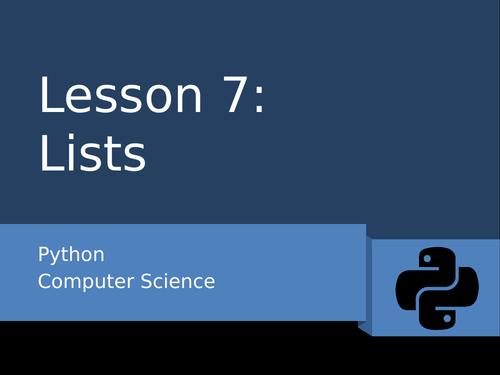 Python 7 - Lists