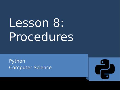 Python 8 - Procedures