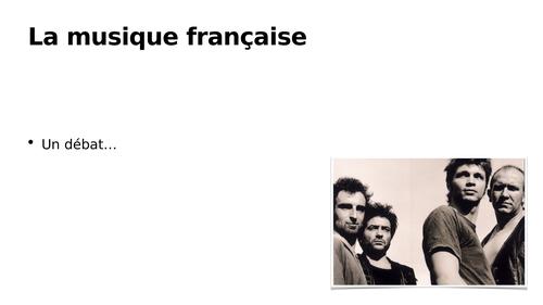 A-level - La musique francophone contemporaine / La criminalité: Noir Désir (Bertrand Cantat)