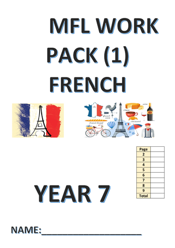 MFL WORK PACK FOR YEAR 7 FRENCH