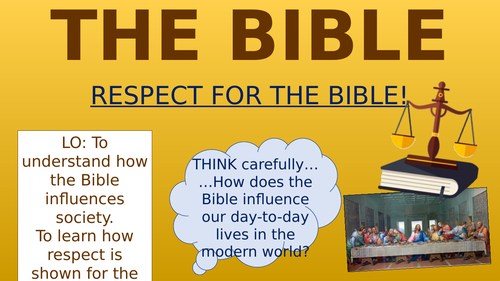 The Bible - Respect for the Bible!