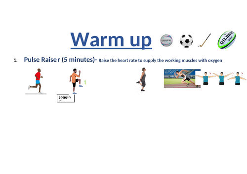 Student - Led Warm up card