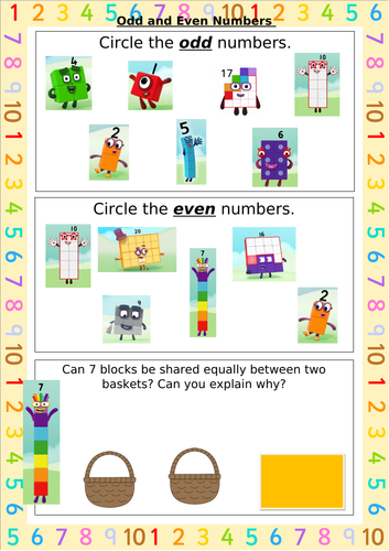 Odd and Even with Number Blocks