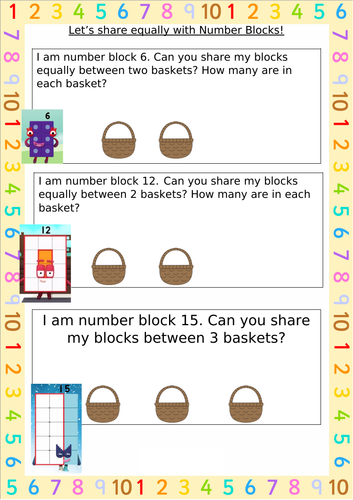 Sharing with Number Blocks