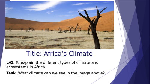 Africa: Climate and Biomes