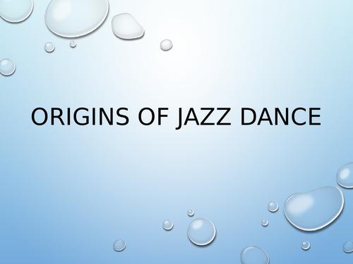 Origins of Jazz SOW