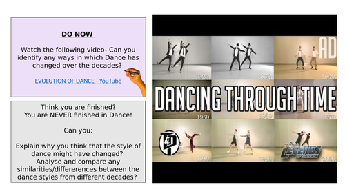 DANCE THROUGH THE DECADES remote learning for Dance lesson 1- Charleston