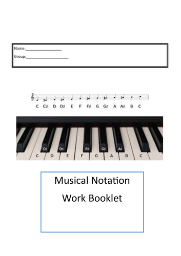 Notate work booklet online learning