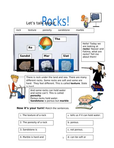 Materials! Rocks