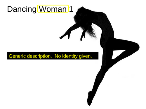 WJEC GCSE poetry 2021 - 'Dancing Woman 1' byPennyanne Windsor.