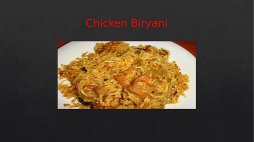 Cooking - How to cook Chicken Biryani