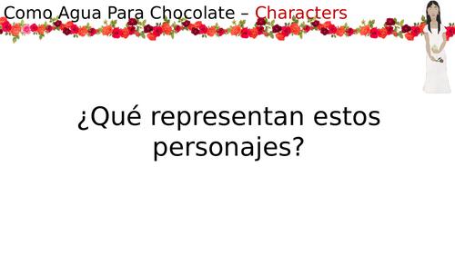 Como Agua Para Chocolate - Characters
