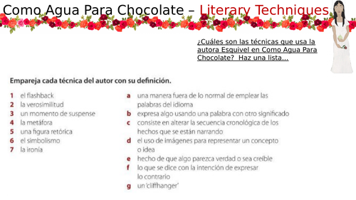 Como Agua Para Chocolate - Literary Techniques