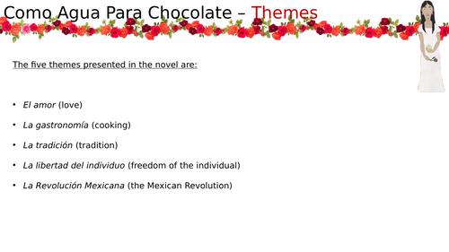 Como Agua Para Chocolate - Themes