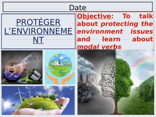 Studio Unit 8 Lesson 2 - Protéger l'environnement