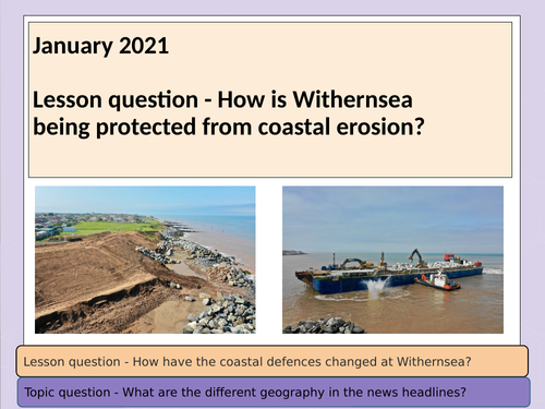 Geography in the News - Withernsea (home learning) 2021
