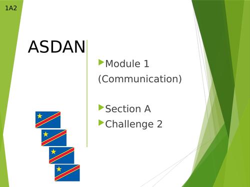 Asdan Module 1: Communication Section A2 lesson  (COPE Level 1)