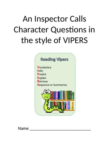 An Inspector Calls VIPERS Questions