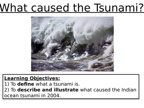 What Caused the Tsunami?