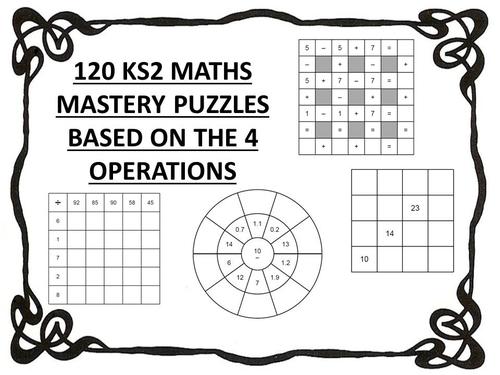 120 maths mastery puzzles KS2