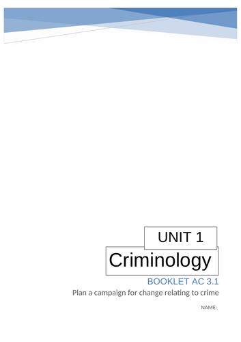 Unit 1 Criminology AC3.1