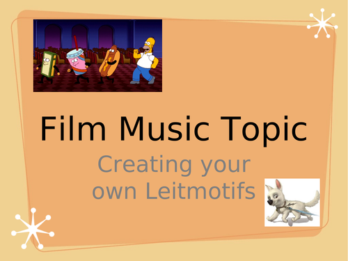 Film music composing task - exploring leitmotifs