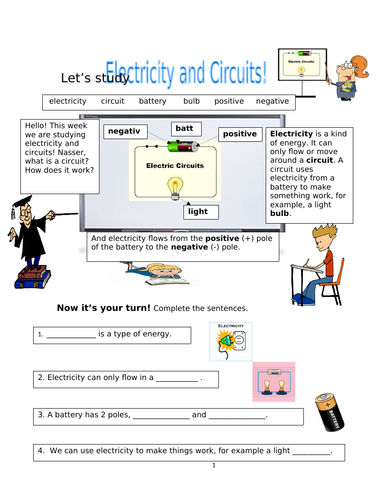 Physical Processes! Electricity and Circuits