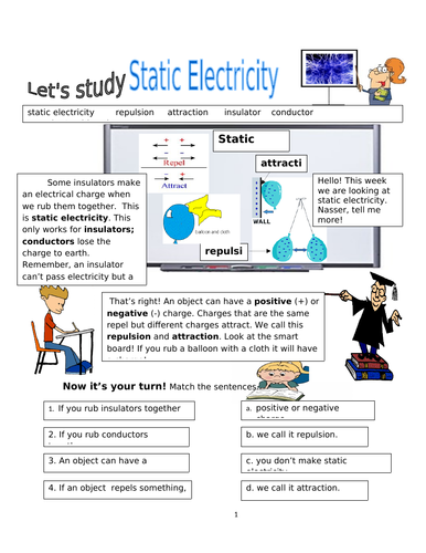 Physical Processes! Static Electricity