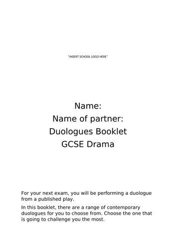 GCSE Drama Duologues booklet