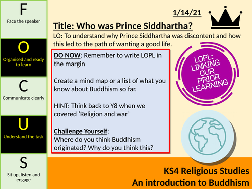 KS3 Buddhism SOL