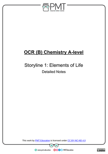 OCR (B) A-level Chemistry Detailed Notes