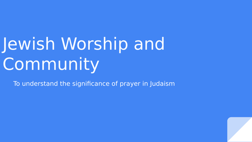 Judaism - the significance of prayer