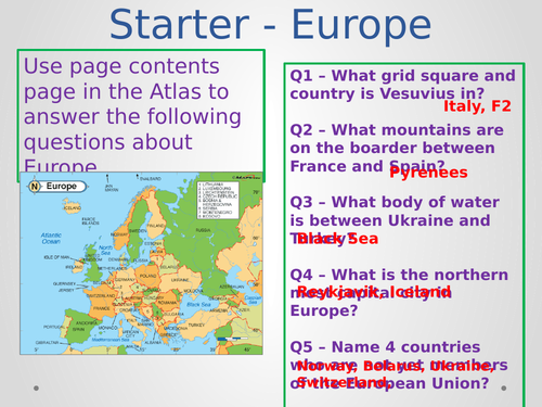 GCSE Geography Complete Scheme of Work SOW Geographical Skills and Applications AQA or EDEXCEL KS4