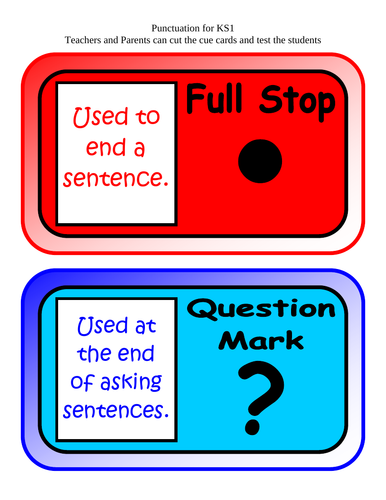 KS1 - test your knowledge in PUNCTUATION
