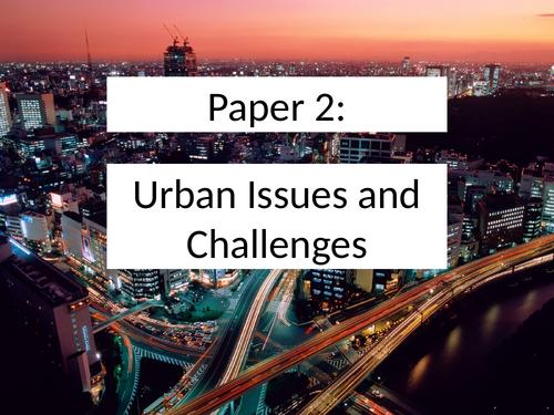 KS4 Geography Urban World SOW Scheme of Work with resources