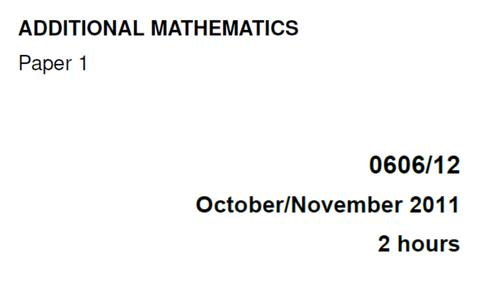 IGCSE-0606_November 2011_QP12_Solutions