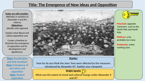 AQA Tsarist and Communist Russia - Growth of Opposition to Tsarist Rule