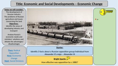 AQA Tsarist and Communist Russia - Economic, Social and Cultural Developments
